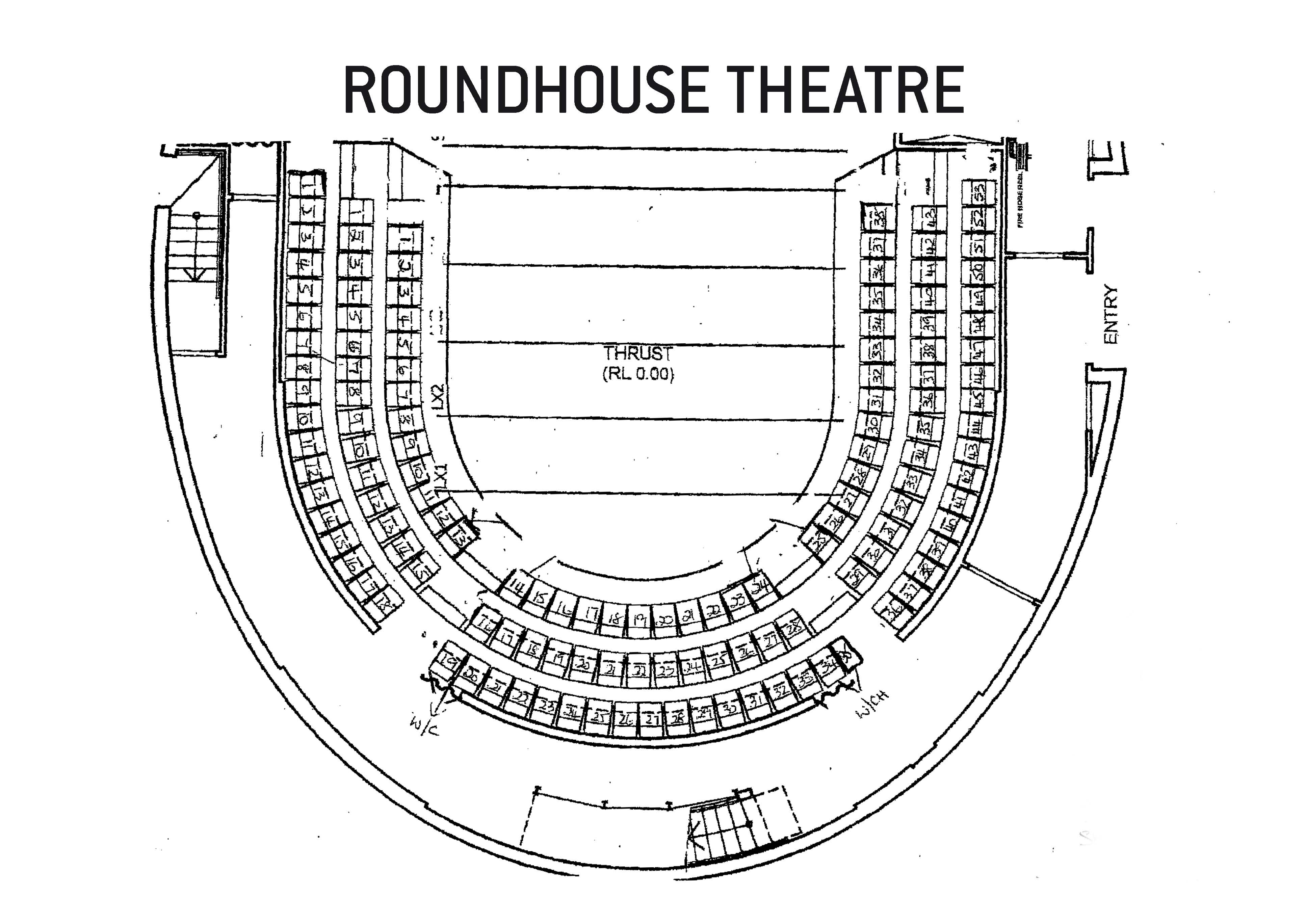 roundhouse theatre seating plan